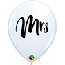 """11"""" Printed Latex Balloons, Hen Night L White, Qualatex 92025, Pack of 25 Pieces"""