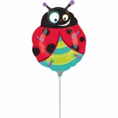 Balon mini figurina buburuza - 36 cm, umflat + bat si rozeta, Amscan 15560