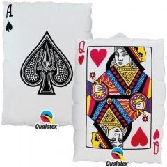 Balon Folie Card Queen Of Hearts - 76 cm, Qualatex 16310
