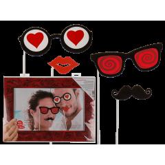 Accesorii foto Valentine's day, Radar 181097, Set de 4 buc + rama foto
