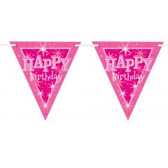 Banner decorativ pentru petrecere -3.6m, Happy Birthday, Qualatex 45574, 1 buc