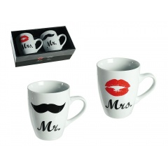 "Set cani ""Mr. & Mrs."" -  10 x 8 cm, Radar 78/8217, 2cani/set"