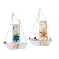 Macheta barca decorativa - 12,5 x 18 cm, Radar 830359, 2 modele