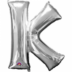 "34""/86 cm Gold Letter K Shaped Foil Balloon, Northstar Balloons 00258"