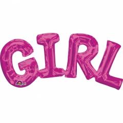 PACHET LITERE ''GIRL'' - ROZ 55 X 25 CM, Amscan 33097