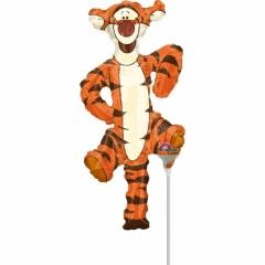 Balon mini figurina Tigger, umflat + bat si rozeta, Amscan 24985