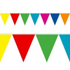 Banner fanioane maxi multicolore - 10 m x 44cm, Radar 54146