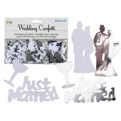 Confetti nunta - 21 gr, Radar 719180,  Alb/Argintiu