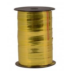 Rafie metalizata limone pentru baloane sau decoratiuni - 5 mm x 100 m, Radar 12596, 1 rola