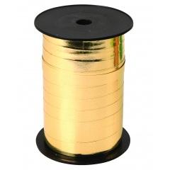 Rafie metalizata Oro, aurie, pentru legat baloane latex sau folie - 100 m, Radar 66204, 1 rola
