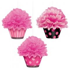 Decoratiuni cupcake de agatat - 26 cm, Amscan 180007