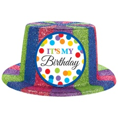 Joben Plastic cu Sclipici - Happy Birthday, Amscan 250447