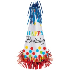 Coif Petrecere Happy Birthday - 33 cm, Amscan 250446