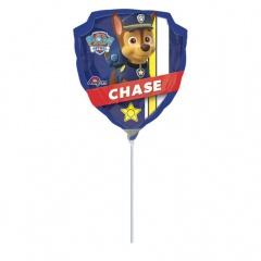Balon mini figurina Paw Patrol -  umflat + bat si rozeta, Amscan 30185