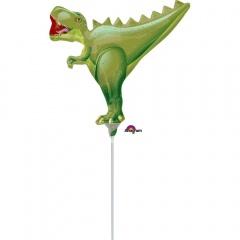Balon mini figurina T-Rex - 35 x 27 cm, umflat + bat si rozeta, Amscan 34603