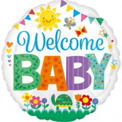 Balon Folie 45 cm - Welcome Baby - Amscan 35592