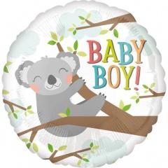 Balon Folie 45 cm - Baby Koala Boy - Amscan 35602