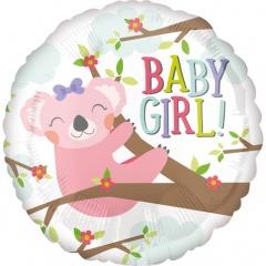 Balon Folie 45 cm - Baby Koala Girl - Amscan 35601
