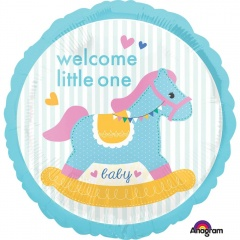 Balon Folie 45 cm - Welcome Little One - Amscan 34459