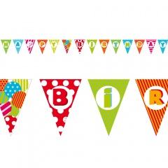Banner decorativ pentru petrecere 3.6 m - Happy Birthday, Radar 41253