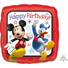 Balon Folie 45 cm - Mickey & Donald, Happy Birthday - Amscan 36225