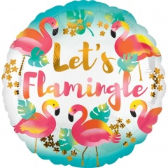 Balon Folie 45 cm Let's Flamingle, Amscan 37121