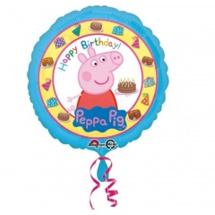 Balon Folie 45 cm Peppa Pig - Happy Birthday, Amscan 31592