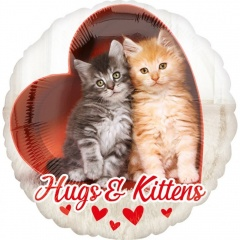 "Balon Folie 43 cm ''Hugs & Kittens"", Amscan 36381"