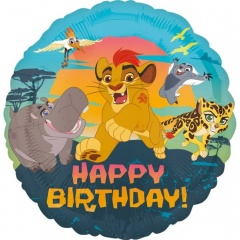 Balon Folie 45 cm Lion Guard - Happy Birthday, Amscan 34644