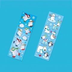 Stickere decorative cu desene de iarna - Amscan 394898, 8buc/set