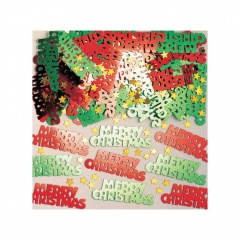 Confeti metalice Merry Christmas - multicolore, 14 g., Amscan 36705