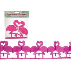 Ghirlanda decorativa pentru petrecere cu flamingo - ca. 2 m, Radar 181200, 1 bucata