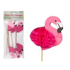 Scobitori decorative pentru briose, flamingo - H: ca. 18 cm, Radar 500171, 8buc/set