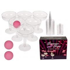 Joc de petrecere pentru adulti - Prosecco Pongo - 12 pahare de plastic, ca. 8,5 x 11 cm si 3 mingii, Radar 79/3929