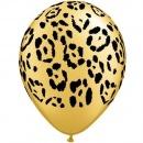"Baloane latex 11"" inscriptionate Leopard Spots, Qualatex 37042"