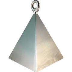 Greutate pentru baloane forma piramida - argintiu, 110 g, Qualatex 14420