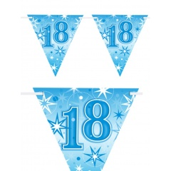 Happy 18th Birthday Flag Banner, Amscan 400208, 1 piece