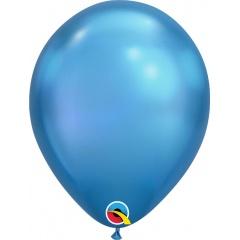 "Baloane latex 11""/28 cm Blue - Chrome, Qualatex 58272"