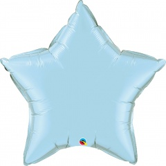 "Balon folie metalizat stea light blue - 36""/91 cm, Qualatex 21148, 1 buc"