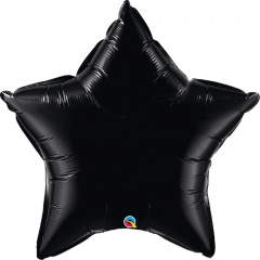 "Balon folie stea neagra - 20""/ 50 cm, Qualatex 12617"