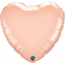 Rose Gold Heart Shaped Balloon, 45 cm, Qualatex 57045
