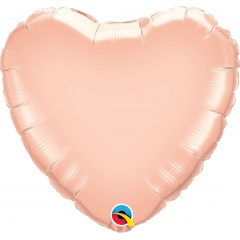 Balon mini figurina inima Rose Gold - 23 cm, Qualatex 57043