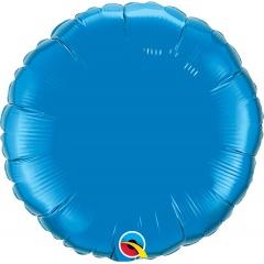 Balon folie metalizat rotund Sapphire Blue - 45 cm, Qualatex 22632