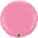 Balon folie metalizat rotund Rose - 45 cm, Qualatex 12910