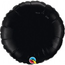Balon folie metalizat rotund Onyx Black - 45 cm, Qualatex 12907