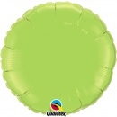 Balon folie metalizat rotund Lime Green - 45 cm, Qualatex 73310