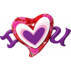 Balon Folie Figurina Inima Love- 118 cm, Qualatex 54894