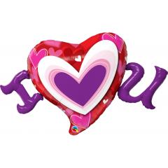 Balon Folie Figurina Inima Love- 118 cm, Qualatex 54894