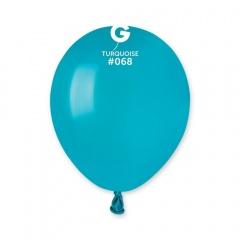 Baloane Latex 13 cm, Turquoise 68, Gemar A50.68, set 100 buc