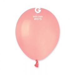 Baloane Latex 13 cm, Baby Pink, Gemar A50.73, set 100 buc